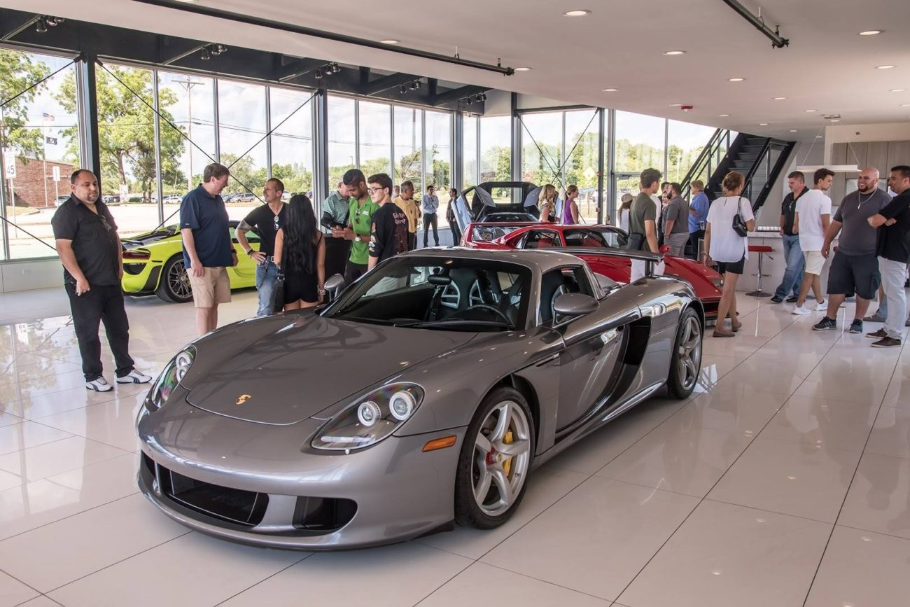 Porsche Carrera GT at the Chicago Motor Cars Jewelry Box