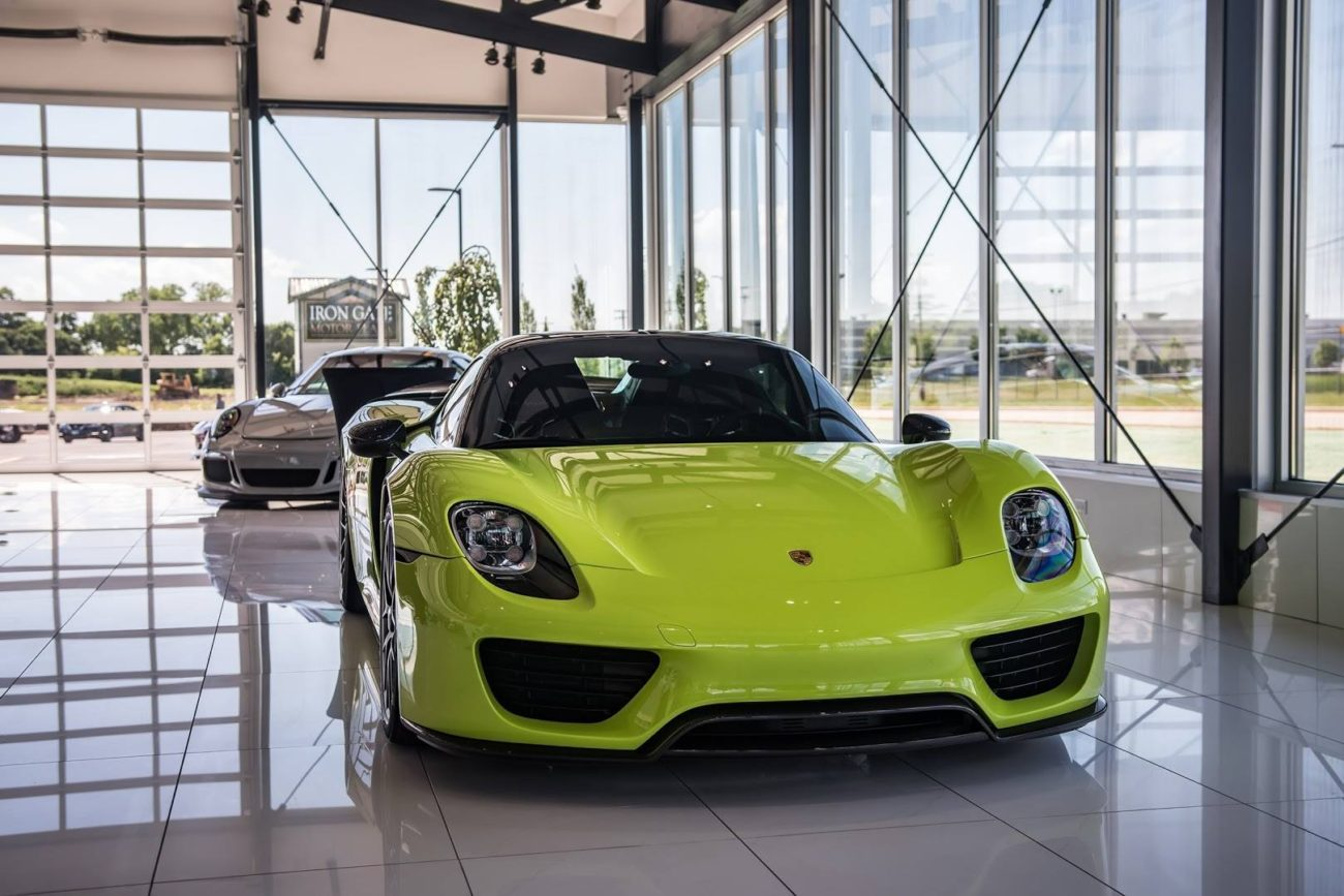 Acid Green Porsche 918 Hypercar Chicago Motor Cars Naperville Jewelry Box