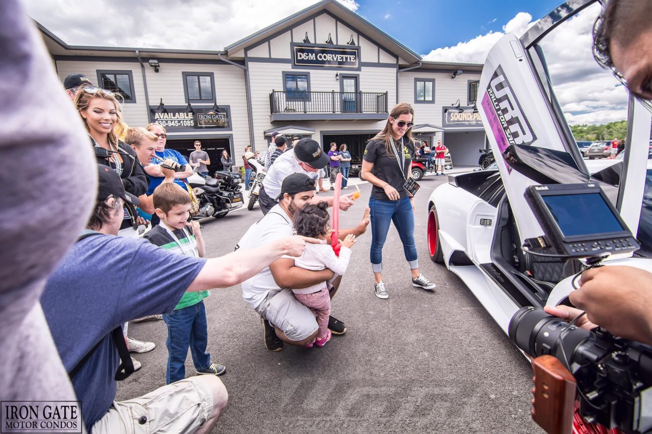 A Cal's kid chooses a ride in this customized Lamborghini Murcielago