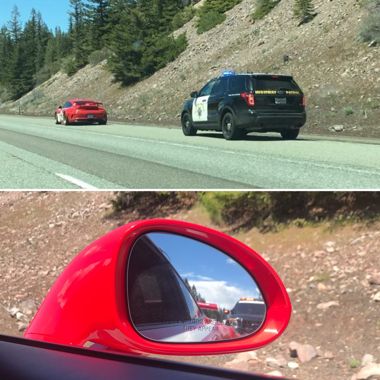 Ambushed by the California Highway Patrol on GoldRush Rally 9ine