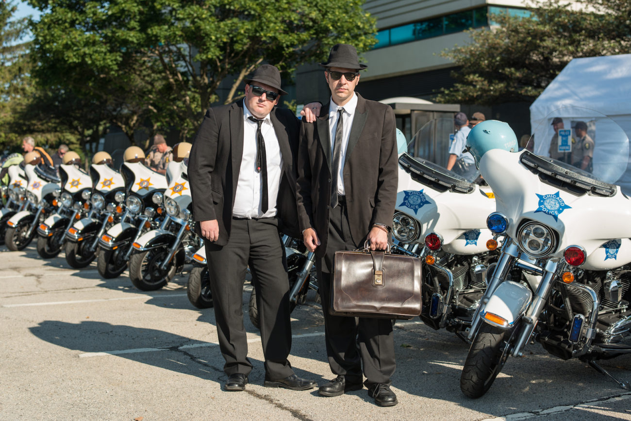 Arne's Antics Blues Brothers on The Illinois State Police Heritage Foundation 10th Annual Motorcycle and Fun Car Run 2017