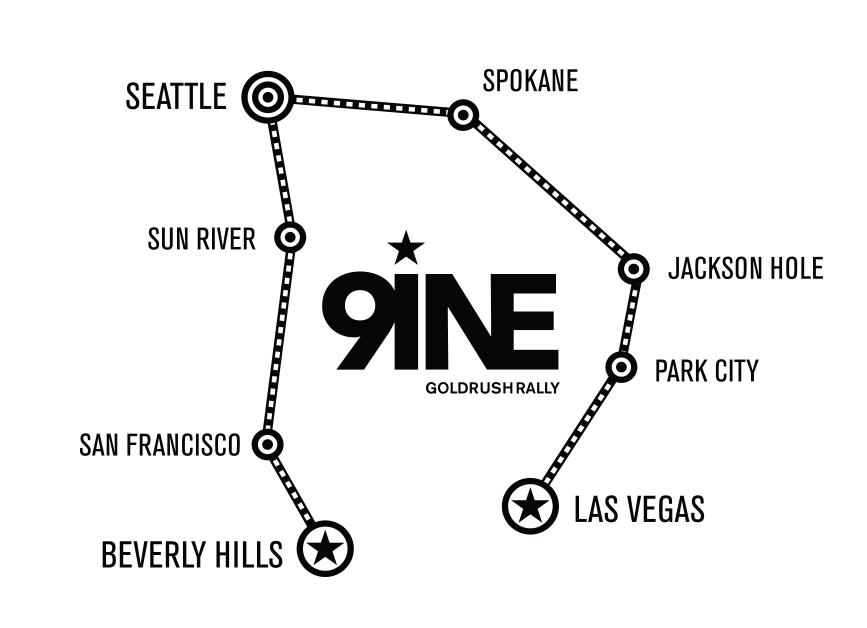 GoldRush Rally 9ine Route
