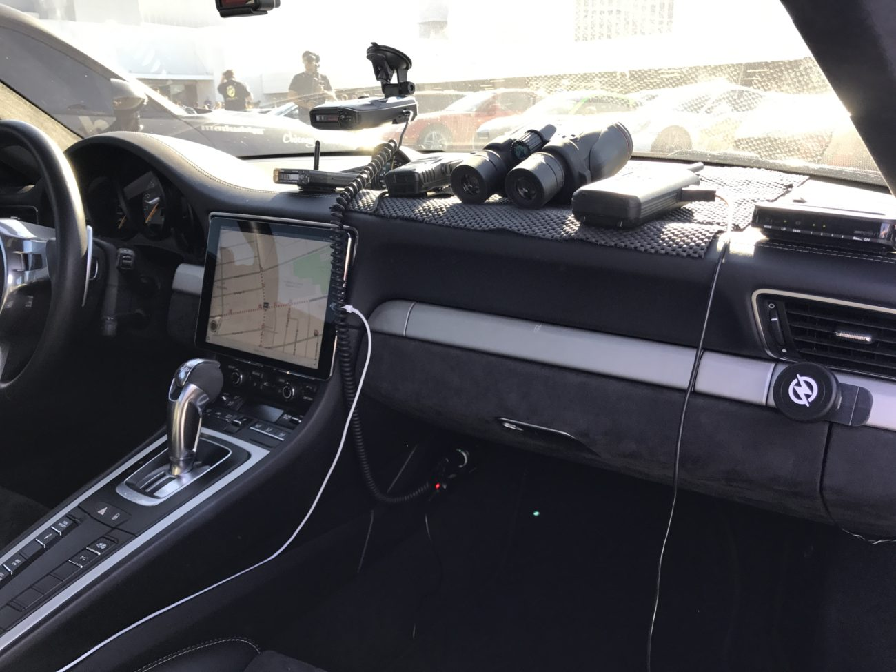 The cockpit of the Libertywalk GT3