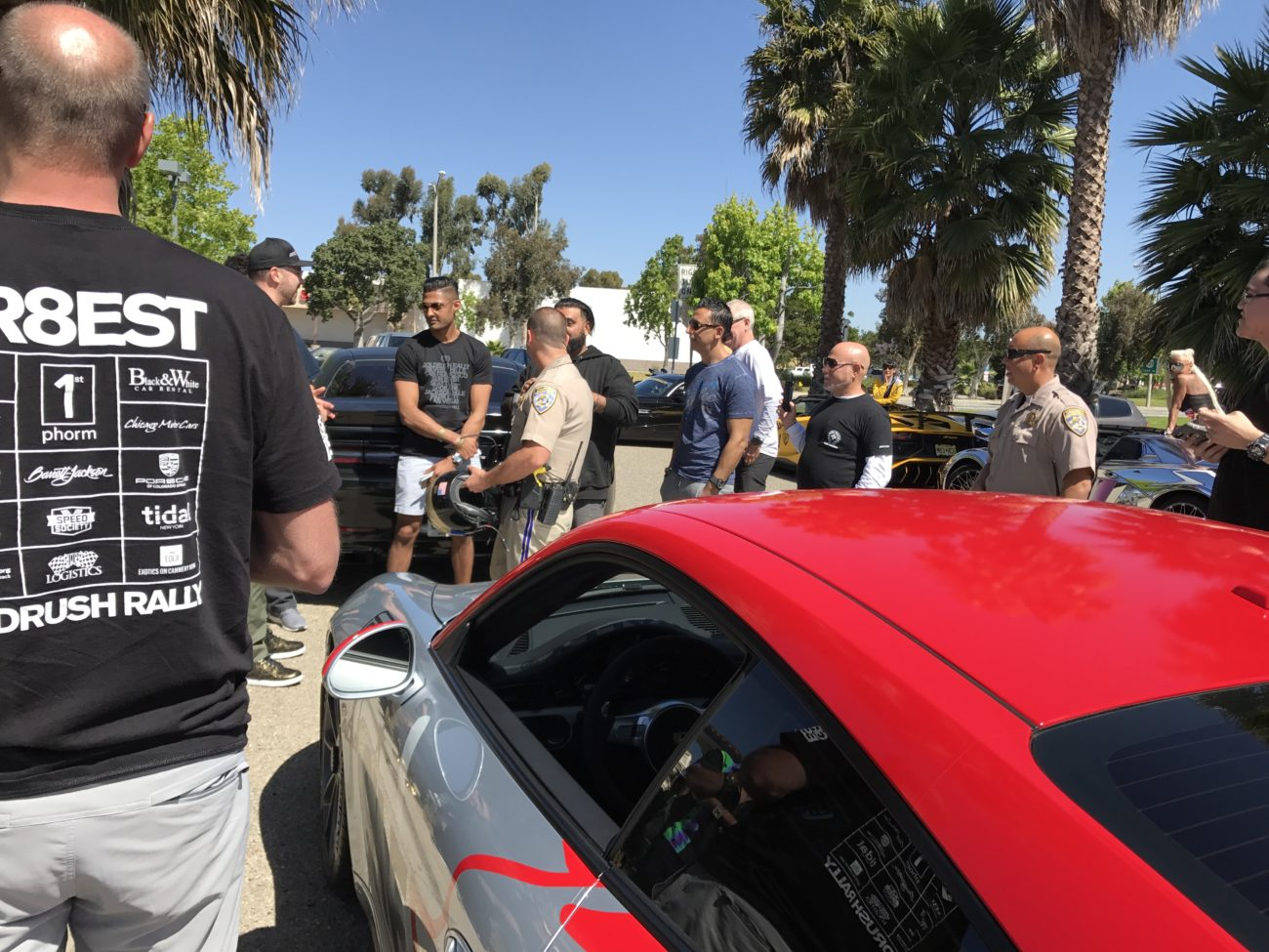 """Impromptu """"driver's meeting"""" with the CHP"""