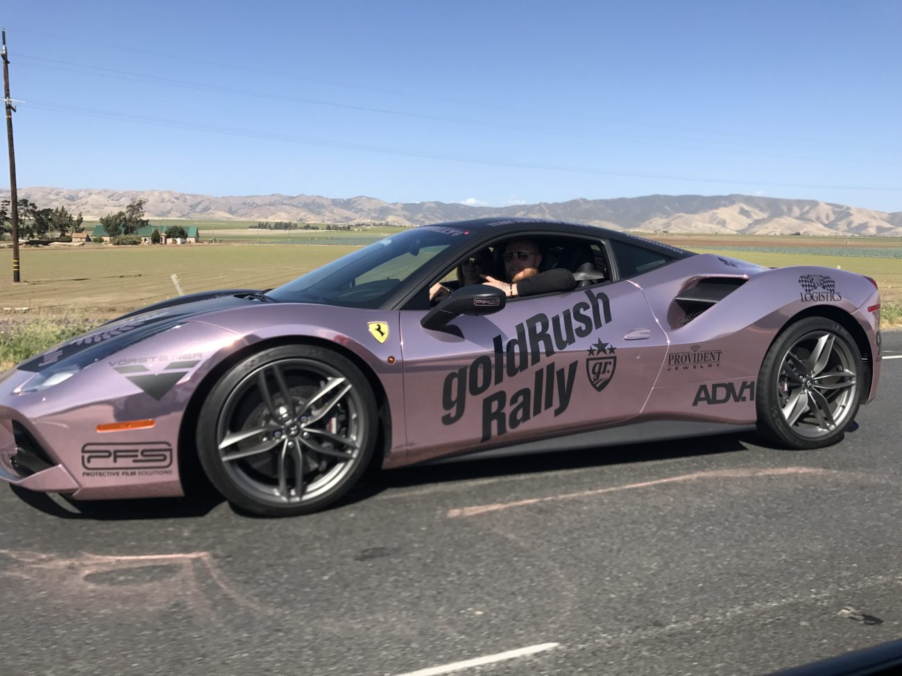 Steve & Pascale in their beautiful Ferrari 488
