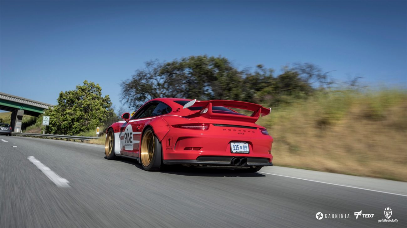Platinum Motorcars Detroit Libertywalk Porsche GT3 Heading North on California Highway 101