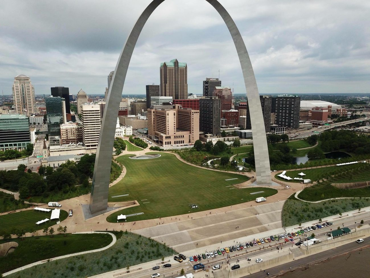 goldRush Rally takeover of the Gateway Arch