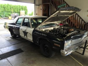 Stock LS swapped Arne's Antics Bluesmobile on the Sloppy Dyno making a whopping 228whp