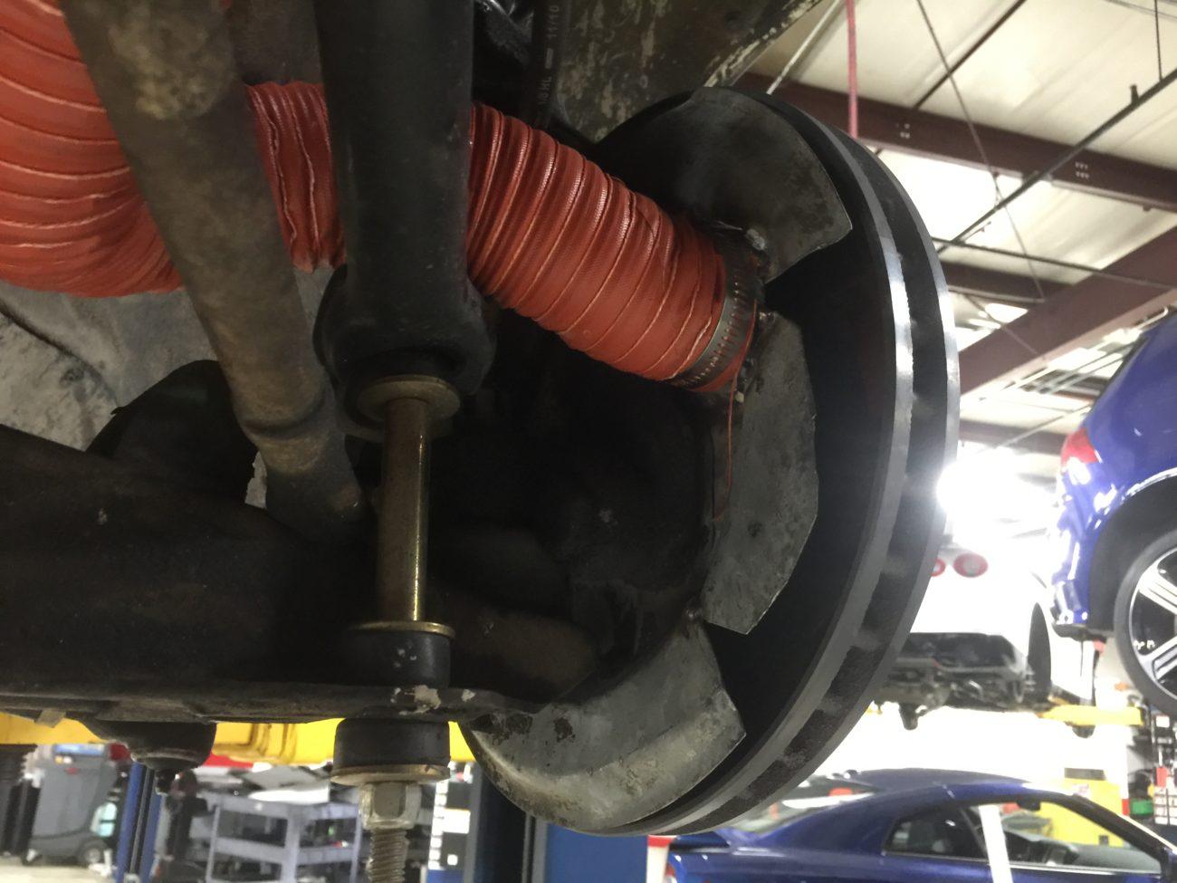Arne's Antics Cannonball Bluesmobile brake cooling