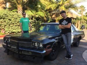 Ed Bolian Arne's Antics Bluesmobile C2C Express Winner 2016 Classic Car Cannonball Run Record Portofino Inn Dan Gurney Brock Yates