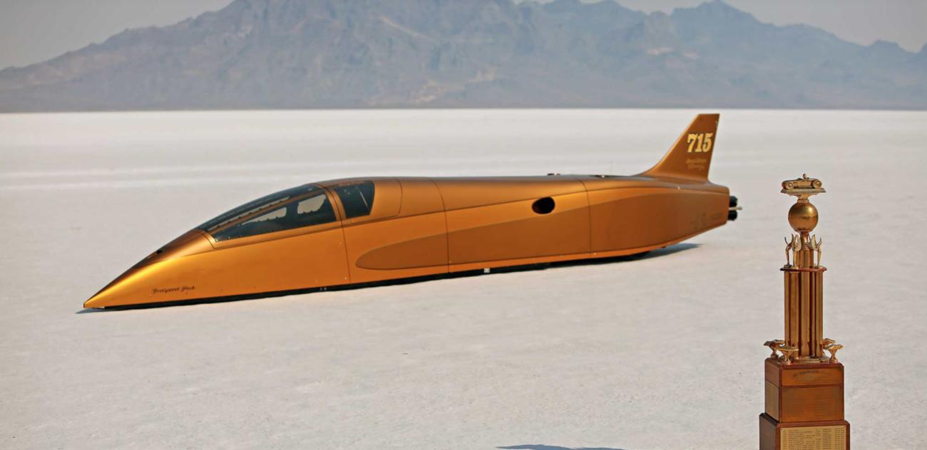 Bonneville Streamliner with Billet Specialties Wheels