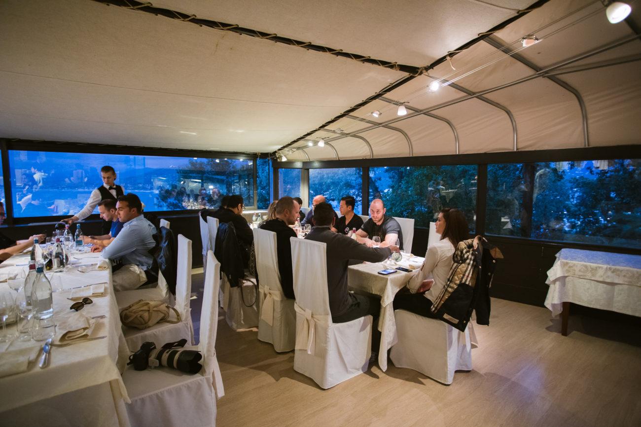 Dinner overlooking the Italian Riviera at Grand Hotel Dei Castelli