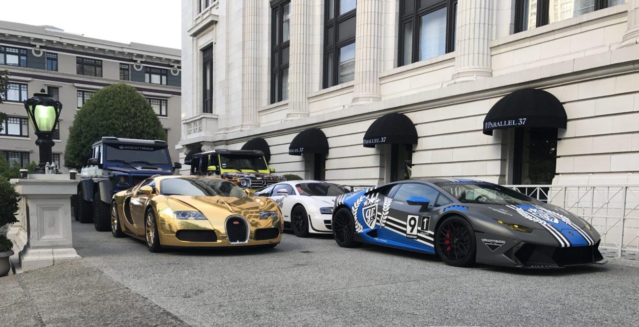 GoldRush Rally 9ine - Ritz Carlton San Fransisco Veyron Brabus 6x6