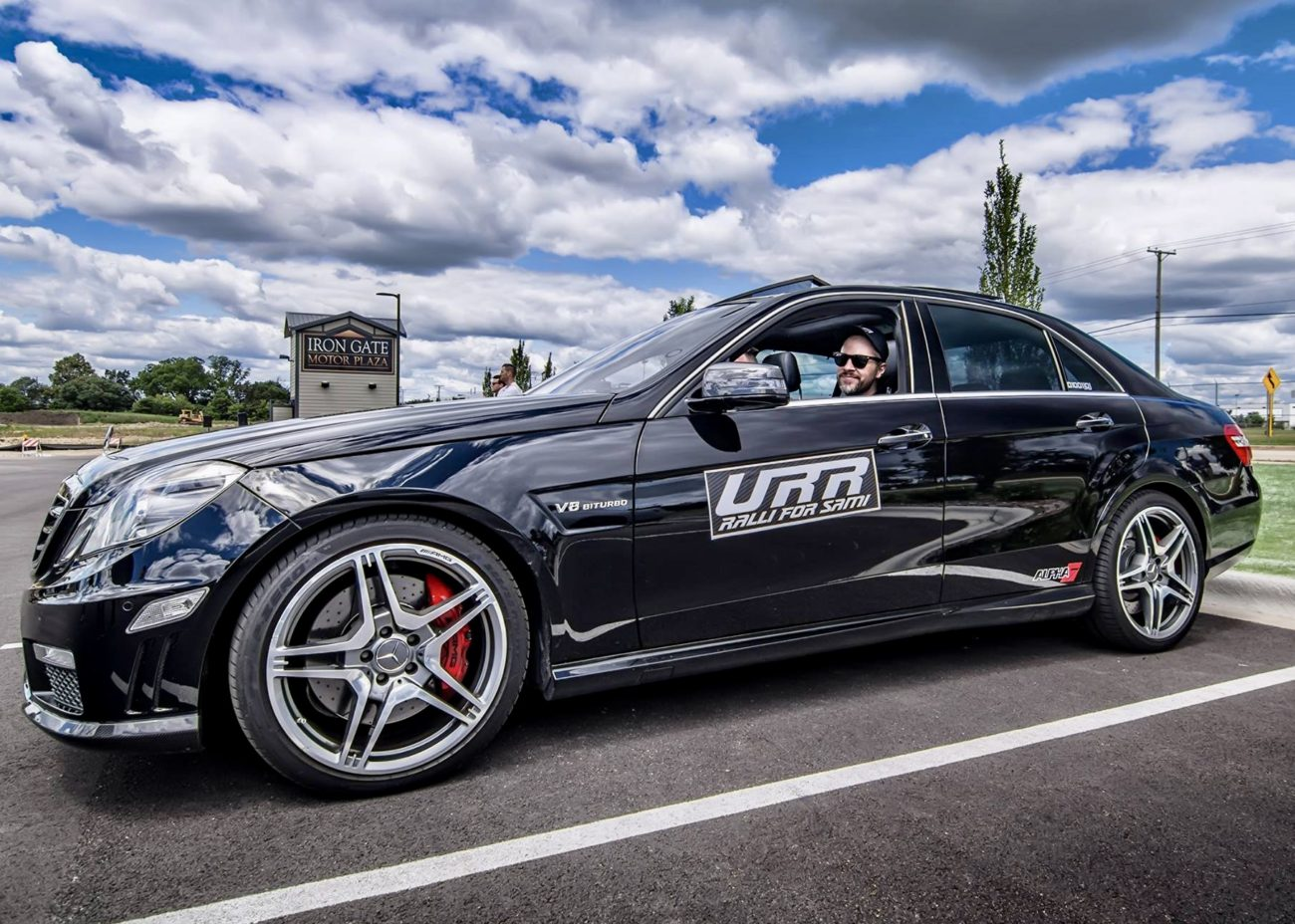 Arne's Antic's ALPHA 7 Mercedes-Benz E63 AMG on the Ultimate Road Rally - Ralli for Sami