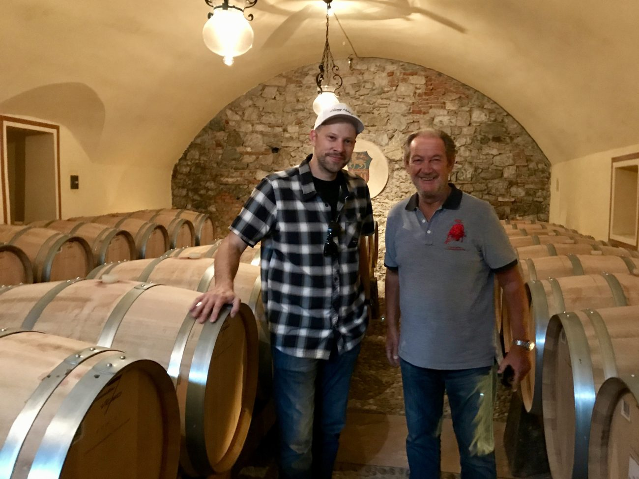 Arne's Antics and Valentino Balboni at Ruffino Winery in Tuscany Italy Adventure Drives AD.04