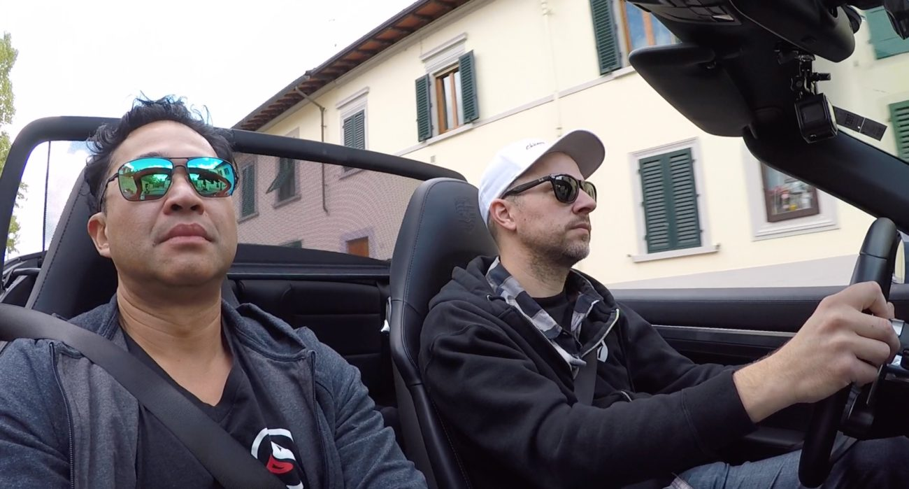Me and Jebo making our way out of Tuscany Adventure Drives AD.04