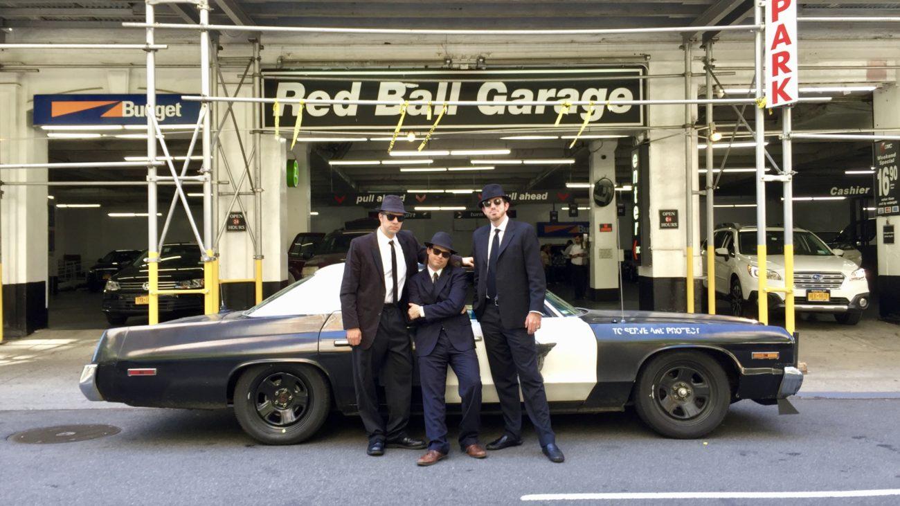 Ed Bolian Arne's Antics Bluesmobile C2C Express Winner 2016 Classic Car Cannonball Run Record Red Ball Garage Manhattan
