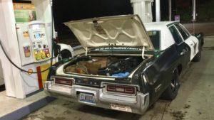 Ed Bolian Arne's Antics Bluesmobile C2C Express Winner 2016 Classic Car Cannonball Run Record Ohio Fuel Stop