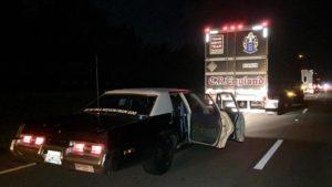 Ed Bolian Arne's Antics Bluesmobile C2C Express Winner 2016 Classic Car Cannonball Run Record Interstate Shut Down Indiana