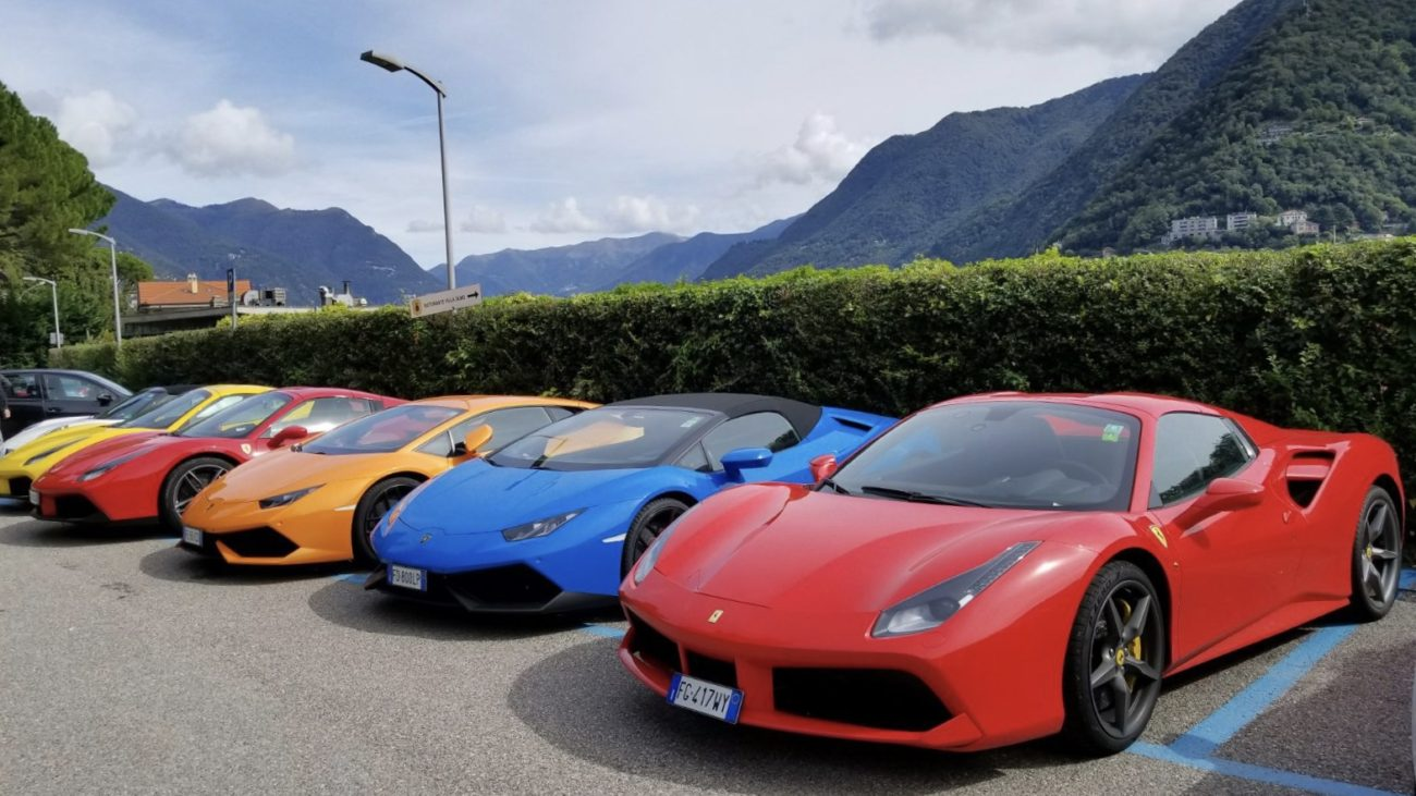 The Adventure Drives Crew in Lake Como