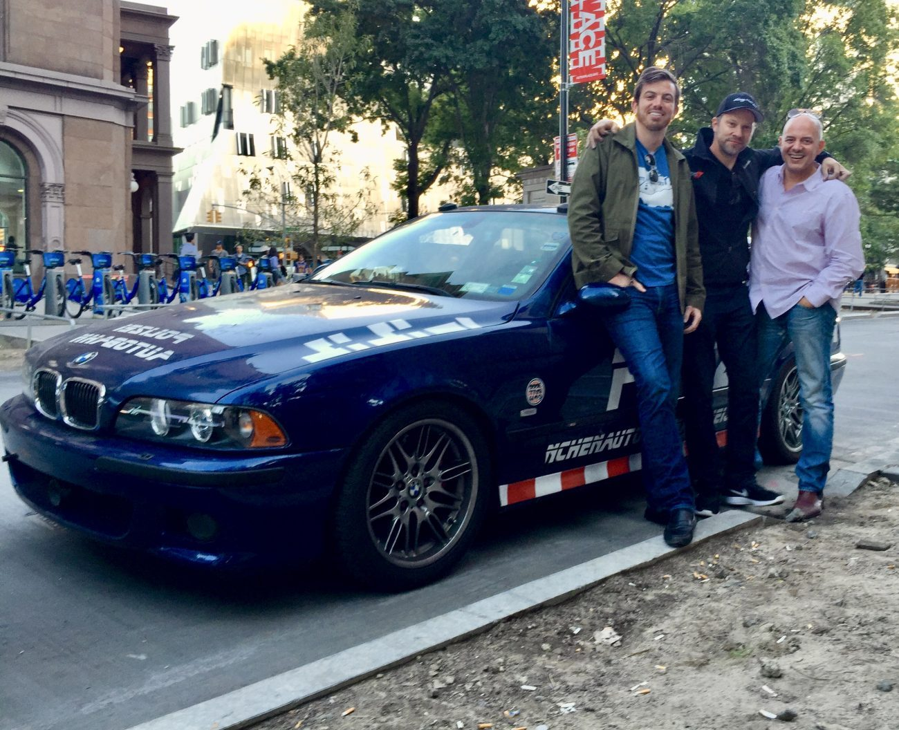 Ed Bolian and Alex Roy with the Polizei 144 BMW M5